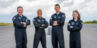 Chris Sembroski, Sian Proctor, Jared Isaacman and Hayley Arceneaux make up the SpaceX Inspiration4 crew.