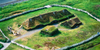 Image: reconstructed Norse longhouse