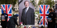 Image: FILE PHOTO: People pay tribute to late British MP David Amess, in London