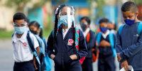 Image: Venezuelan students return to school after COVID-19 closures, in Caracas