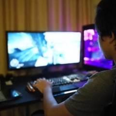 Side View Of Boy Playing Game On Computer At Home. Shop the best gaming monitors in 2021 for gaming PCs including 144Hz monitors, 4k monitors, Asus monitors, LG gaming monitors and 27-inch monitors.