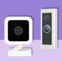 Illustration of the Wyze Cam, Wyze Video Doorbell and the Ring Video Doorbell Pro 2