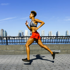 Mixed race woman running at waterfront. See the best running shorts for women to try in 2021. Shop women's running shorts from Nike, Lululemon, Under Armour and more for your next workout.