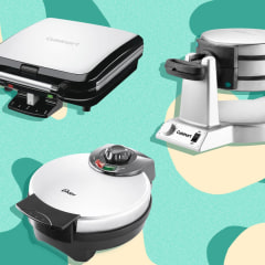 Illustration of different brands and types of Waffle makers