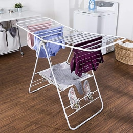 This drying rack for clothes makes laundry day easier