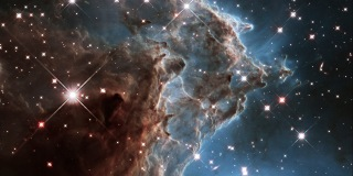 Image::Image: A churning region of star birth in NGC 2174, also known as the Monkey Head Nebula, about 6400 light-years away in the constellation of Orion (The Hunter) is pictured in this handout infrared image mosaic from the NASA/ESA Hubble Space Telescope|NASA via Reuters