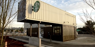 Starbucks 39 shipping container cafes are gaining steam - Shipping container end welding ...