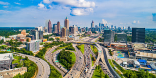 Image::Image: Atlanta, Georgia, USA Downtown Skyline Aerial|Getty Images stock