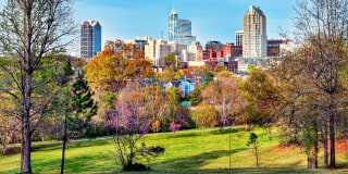 Image::Colorful Raleigh Cityscape|Getty Images stock