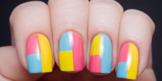 Diy summer nail art designs colorblocked manicures tonights plan diy one of these 9 summer nail art looks prinsesfo Image collections