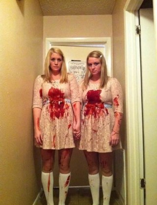 My sister and I went as the twins from  The Shining    orangeroom Facebook  via Lindsey Houliston Beck. 61 awesome last minute Halloween costume ideas