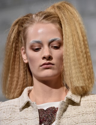 Crimped hair is making a comeback see the look then and now getty images urmus Images