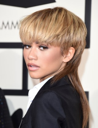 Celebrity mullet hair zendaya lady gaga george clooney and more actress and singer zendaya attends the grammy awards on feb 15 jason merritt getty images urmus Images