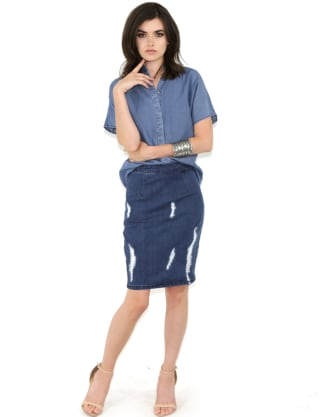 Denim skirts mini pencil button up and other styles to try for 31 twenty five boutique
