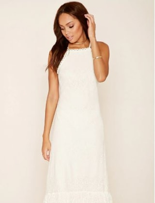Doily Dresses The Best White Lace Dresses To Wear Now