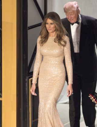 President Elect Donald J Trump And Melania Arrive To The Candlelight Dinner At Union Station In Washington On Thursday Chris Kleponis Epa