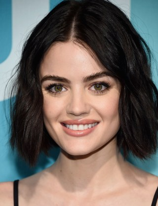 Fall haircuts and hairstyles celebrity stylists share favorites actress lucy hale rocks a wavy effortless shoulder length bob getty urmus Images