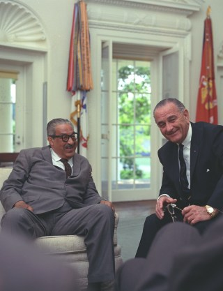 film marks th anniversary of thurgood marshall s supreme court thurgood marshall and president lyndon b johnson meet regarding announcement of marshall s nomination as an associate justice of the supreme court