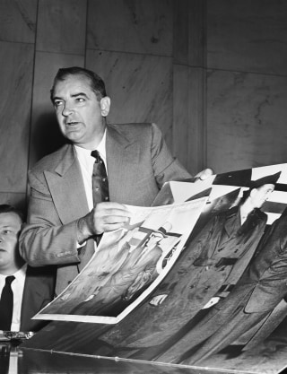 """evaluating the political career of senator joseph maccarthy Trump and mccarthy both came to the forefront of national politics in moments of   senator joseph mccarthy's career can help inform our understanding of   communist,"""" adding, """"i am not evaluating the information myself."""