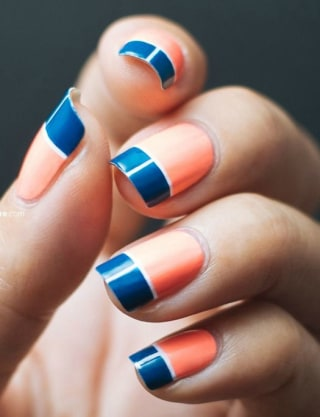 Diy summer nail art designs colorblocked manicures bold tips nail art today prinsesfo Image collections