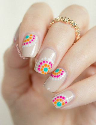 diy summer nail art designs colorblocked manicures