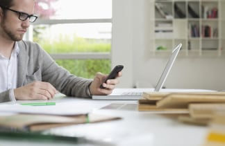 working from home socializing via chat or text messaging can keep loneliness at bay getty images