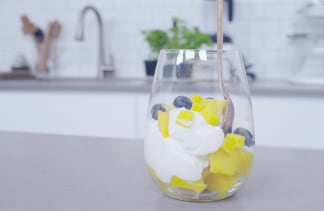 How to cut a mango into perfect cubes summer breakfast parfait add those perfectly cut mango ccuart Choice Image