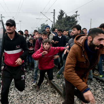 Image: GREECE-EUROPE-MIGRANTS-PROTEST