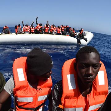 Image: TOPSHOT-ITALY-REFUGEES-AQUARIUS-SEA-IMMIGRATION-LIBYA