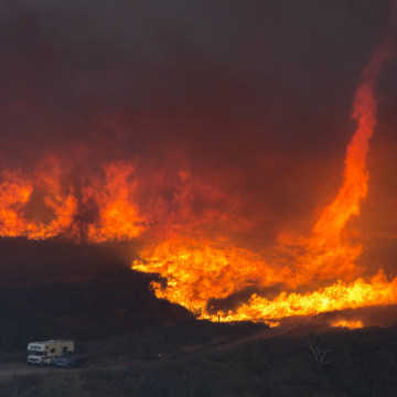 Image: Blue Cut Fire Rages