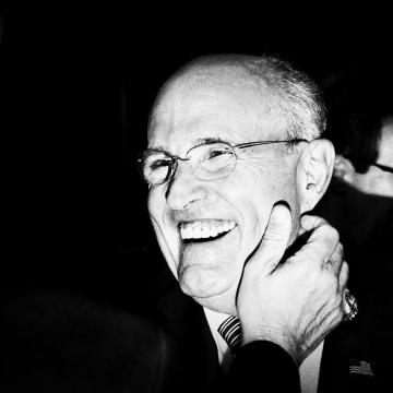 Rudy Giuliani is seen ahead of the first presidential debate at Hofstra.
