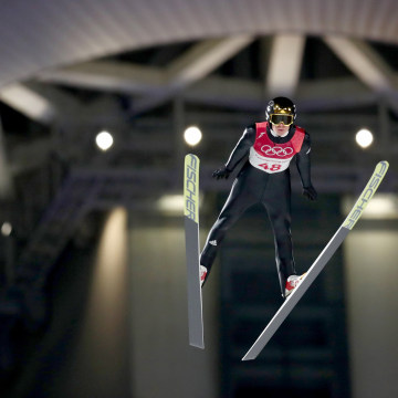 Ski jumper Andreas Andre Wellinger of Germany participates in the men's normal hill individual final on day one of the PyeongChang 2018 Winter Olympic Games at Alpensia Ski Jumping Center on Feb. 10, 2018 in Pyeongchang-gun, South Korea.