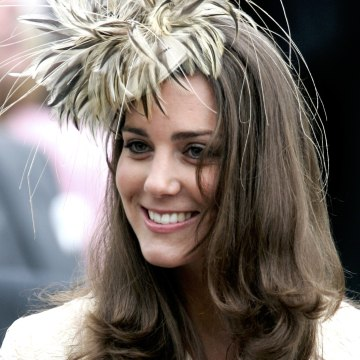 Kate Middleton, girlfriend of Prince William is seen at the wedding of Laura Parker Bowles and Harry Lopes at St Cyriac's Church, Lacock on May 6, 2006 in Wiltshire, England. 26-year old Laura (daughter of Camilla and her former husband Andrew), and 29-year old Harry (nephew of the late Lord Roborough and grandson of the late Lord Astor of Hever) announced their engagement in November, having dated for nine years.