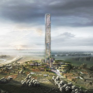 Clotihing company BESTSELLER is planning a skyscraper headquarters for the small Danish town of Brande The tower was approved by the city council in March 2019 but start and end dates have not yet been determined. BESTSELLER is aiming to make the project sustainable certified according to the DGNB sustainability certification system