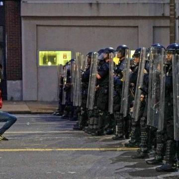 Image: Protest again the death in Minneapolis police custody of African American man George Floyd, in St. Louis, Missouri
