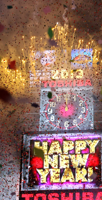 Image: Revelers Celebrate The New Year In NYC's Times Square