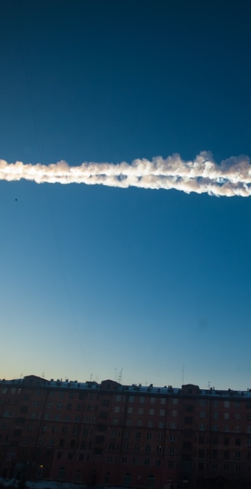 Image: A meteor streaked across the sky of Russia's Ural Mountains on Friday morning.