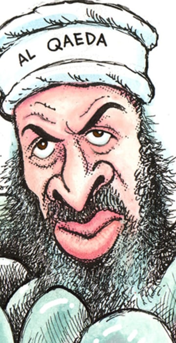 Image result for Osama bin Laden. CARTOON