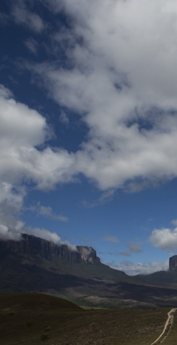 Image: Pemon indigenous porters walk on the road to Mount Roraima, near Venezuela's border with Brazil