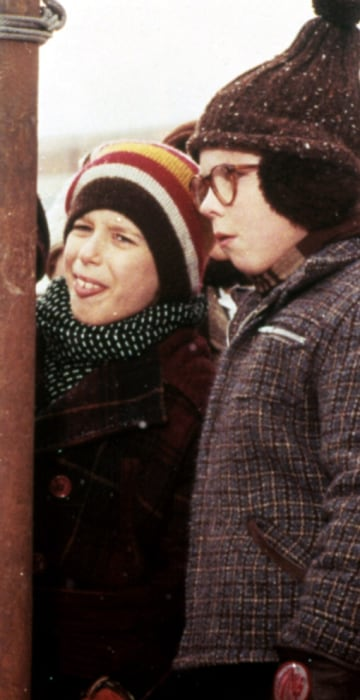 A CHRISTMAS STORY,1983  Ralphie, a young boy growing up in the '40's, dreams of owning a Red Rider BB gun. He sets out to convince the world this is the perfect gift. But along the way, he runs into opposition from his parents, his teacher, and even good 'ol Santa Claus himself.