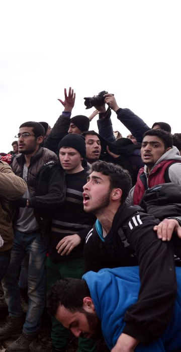 Image: GREECE-EUROPE-MIGRANTS-PROTEST