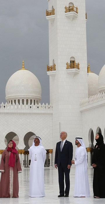 Image: Joe Biden visits the Sheikh Zayed Grand Mosque in Abu Dhabi