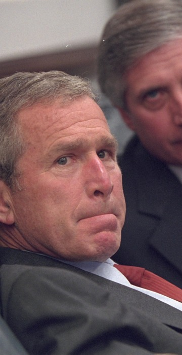 Image: George W. Bush on September 11
