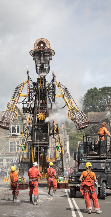 "Image: *** BESTPIX *** Giant ""Man Engine"" Mechanical Puppet Unveiled To The Public"