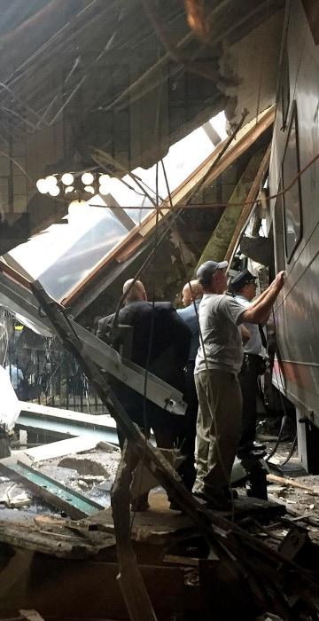 Image: New Jersey Transit Commuter Train Crashes At Hoboken Terminal