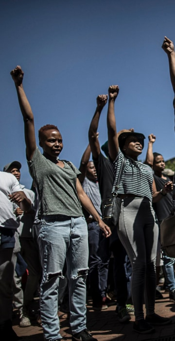 Image: TOPSHOT-SAFRICA-EDUCATION-POLITICS-UNREST
