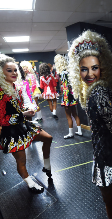 Image: BESTPIX - High Kicks At The All Ireland Irish Dancing Championships