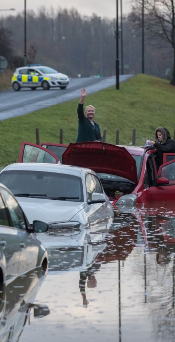Image: Met Office Issue Severe Weather Warnings After A Weekend Of Storms