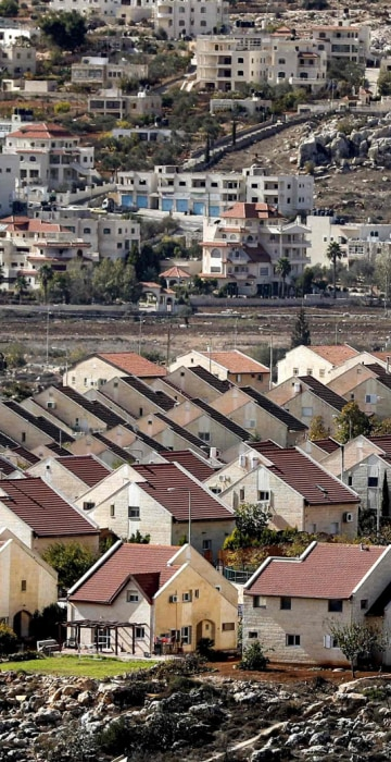 Image: ISRAEL-PALESTINIAN-CONFLICT-SETTLEMENT