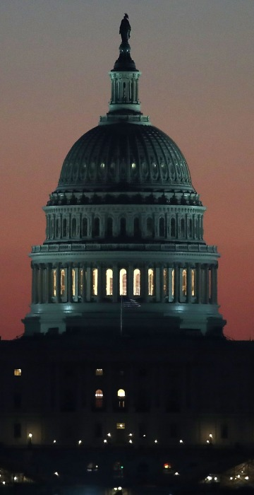 Refurbished U S Capitol Dome Unveiled In Washington